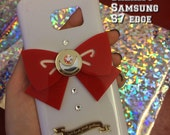 Reserved Angela---Sailor moon bow white SAMSUNG GALAXY S7 edge