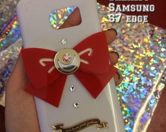 Sailor moon bow white SAMSUNG GALAXY S7 edge