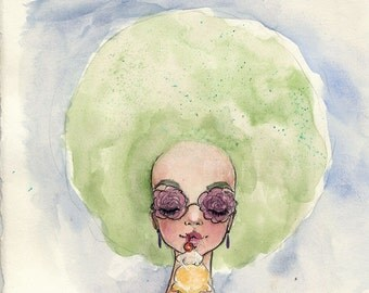 Summer sherbert - watercolor sketch