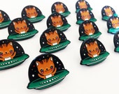 UFO Kitty Cat Enamel Pin