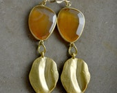 Elizabeth Earrings in Carnelian by Catherine Nicole