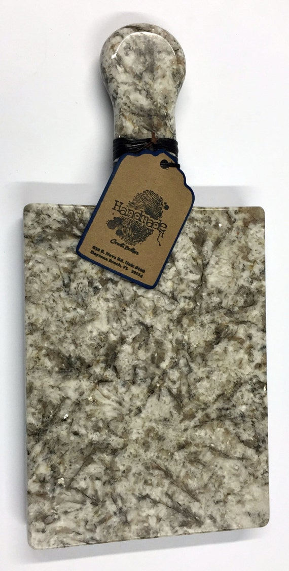 Granite Cheeseboard - Stone Color Bianco Antico - Artisan Crafted Kitchen Accessory Serving Cheese Snack Tray Houseware