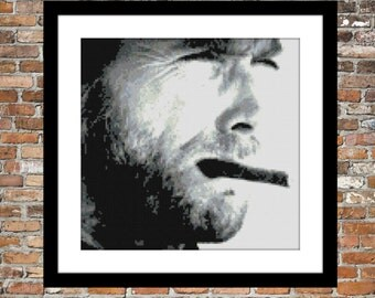 Clint Eastwood - Counted Cross Stitch Pattern
