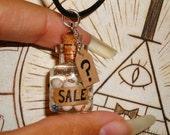 Gravity Falls - Eyeball Jar Charm Necklace - Mystery Shack Souvenir