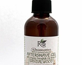 Natural Aftershave Gel with Organic Borage & Rice Bran Oil