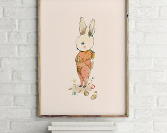Woodland poster, Woodland nursery decor, baby shower girl, Woodland nursery wall art, Woodland animal nursery, girl nursery decor