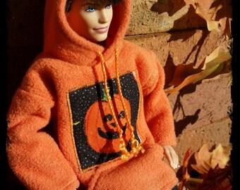 Halloween Pumpkin Ken Hoodie Ready to Ship