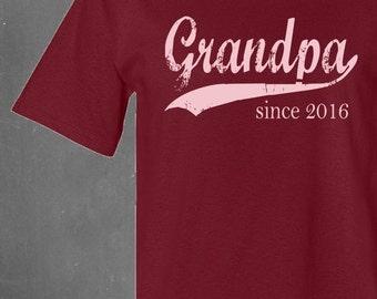 personalized gift . personalized shirt for grandpa . grandpa since . any year . t shirt . grandfather tshirt . men t shirt