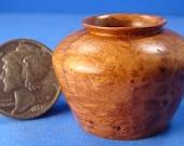 "1"" Scale Amboyna Burl Vase or Pot - IGMA Fellow Helmer Lathe Turned"