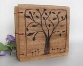 Wooden book Tree Organizer