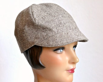 Women's Wool Cap - Women's Tweed Hat - Size M - READY TO SHIP via 3 Day Priority