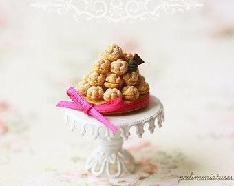 Dollhouse Miniature Food - Dollhouse Tarte Profiterole