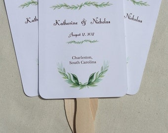 Wedding Fans | Wedding Fan | Hand Fans | Personalized Wedding Fans | Unique Wedding Fans | Wedding Favor Fans | Green Wedding Fans |
