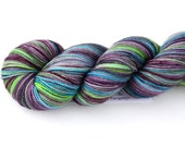 Dalekanium--hand dyed sock weight yarn, 2 ply merino, cashmere, nylon (400yds/100gm)