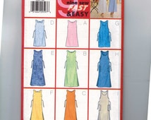 1990s Vintage Misses Sewing Pattern Butterick 6064 Misses Easy Jumper Dress with Pockets Back Tie Size 6 8 10 or 12 14 16 or 18 20 22 UNCUT