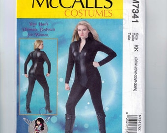 Misses Sewing Pattern McCalls M7341 7341 Womens Yaya Han Ultimate Bodysuit for Men Cosplay Costume Plus Size 18-24W or 26-32W UNCUT  99