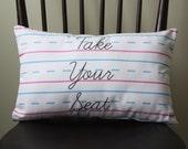 Penmanship Pillow - Take Your Seat // Handwriting Paper // Cursive // Script // School // Teacher Gift // Classroom Decor // Kids Room