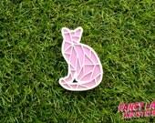 Pastel Cat Brooch, Laser Cut Acrylic, Laser Cut Jewellery, Laser Cut Brooch