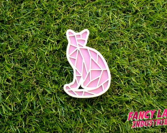 Pastel Cat Brooch, Laser Cut Acrylic, Laser Cut Jewellery, Laser Cut Brooch