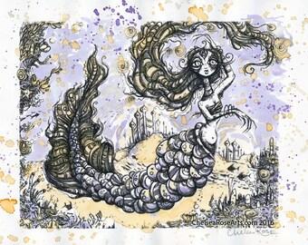 The Mermaid's Garden Tea painting