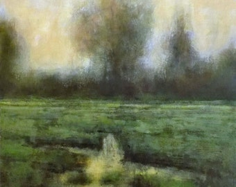 Oil Painting Original Marsh Landscape by J Shears