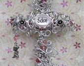 Baby Baptism Gift for Girl - Girl Baptism Gift - Christening Cross - Girl Christening Gift - Baptism Cross - Pink Cross - Name Cross