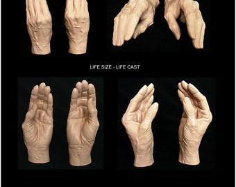 Elderly Female Life Cast Mannequin Hands Highly Detailed - Life Size