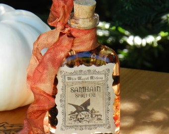 Samhain Spirit Oil 1.5oz - Otherworldly Seance, Ancestral Spirit Callings, Divination, Samhain Ritual
