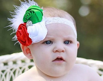 Vintage Christmas Baby Flower Headband,Baby Headbands,Holiday Hair Bows,1st Christmas,Baby Girl Headband,Infant Headband,Girls Christmas