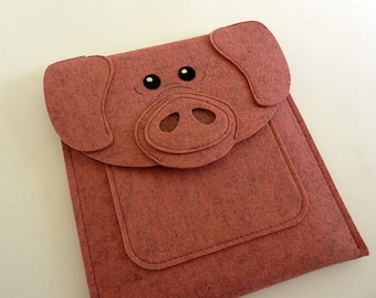 Pig Kindle, Paperwhite, Voyage and Oasis case - reader case - Animal felt bag