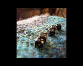 Stitch Markers: 5 Vintage Style Black and Gold Dice for Crochet or Knitting