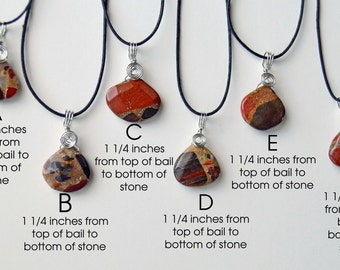 Puddingstone faceted pendant necklace from Michigan silver wire wrapped handcrafted Genuine stone