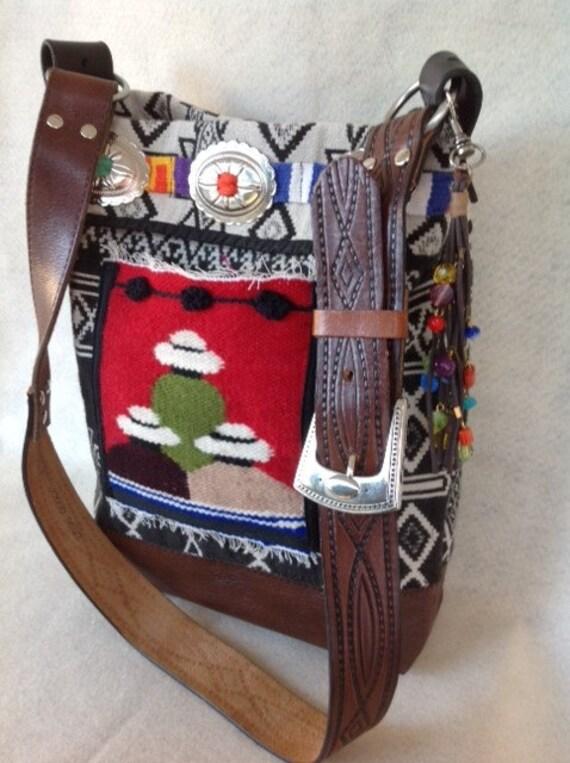 Southwestern Bohemian Shoulder Bag Handmade Purse