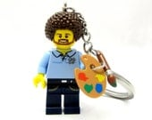 Bob Ross Happy Little Keychain, Necklace -or- Just The Figure *LIMITED*