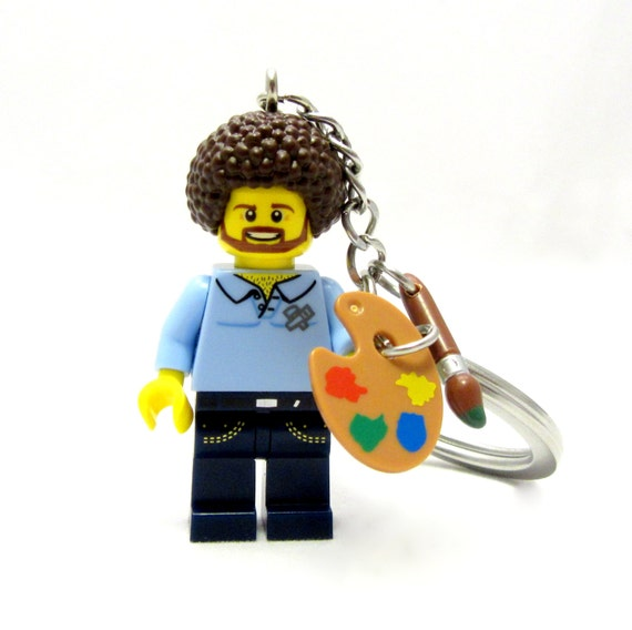Bob Ross Happy Little Keychain, Necklace -or- Just The Figure