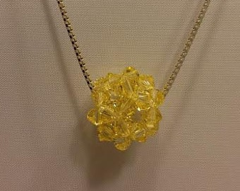 Swarovski pendant and necklace-Yellow