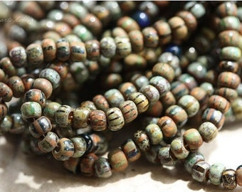 FOREST MIX No. 2 .. Premium Picasso Czech Glass Seed Beads Size 6/0 (4619-st)