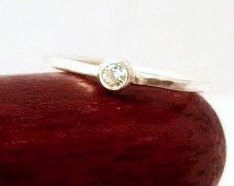 Sterling Silver Stacking Gemstone Ring