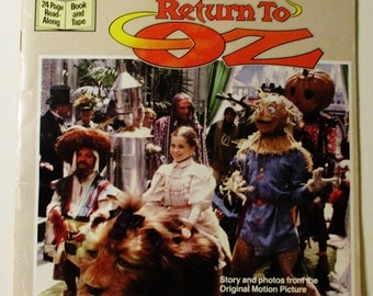 1985 Walt Disney Pictures Return to Oz Book