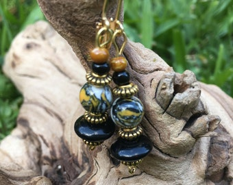 Natural Turkey Bead Earrings