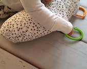 Organic Tummy Time Support Pillow, Arrows
