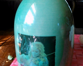Allison Krause moonshine jug decorative handmade