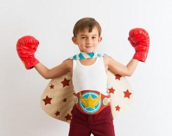 Super Champion Belt - Boxer Costume - MMA Costume - Luchador Costume Belt - Birthday Gift for Kids - Gift for Boys - Gift for Girls
