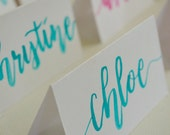 Braelynne Custom Listing (6 placecards)- Wedding or Party Placecards in Water Color // Brush Lettered