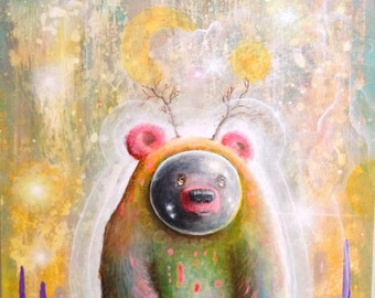 Bear Art  -  Pop Surrealism  - Artwork - Art  - Surreal - Magical - Prints - Psychedelic - Print