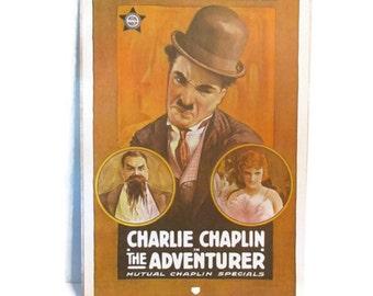 Vintage Charlie Chaplin movie poster reproduction - 1970s - Portal Publications
