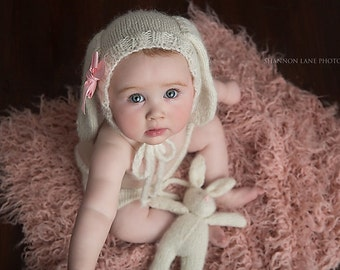 Knit Baby Bunny Hat Pattern : Marys Knittin by MarysKnittin on Etsy
