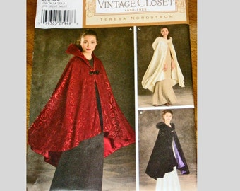Womens Capes Pattern, Vintage Inspired, Simplicity Vintage Closet circa 1920-1925, Uncut Factory Folds