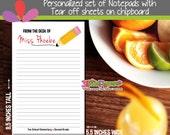 Teacher Notepads - Pencil Notepads - Personalized Notepads - Teacher Personalized Stationery - Custom Gift for teacher - 50 Sheets Notepad