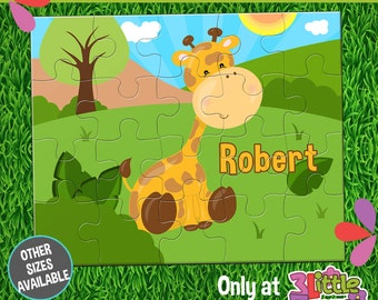 Baby Giraffe Puzzle - Personalized 8 x 10 Puzzle - Personalized Name Puzzle - Personalized Children Puzzle - Personalized Giraffe Puzzle